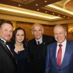 Участники приема Геннадий Сорокоумов, Ирина Купченко, Василий Лановой, Александр Конарев