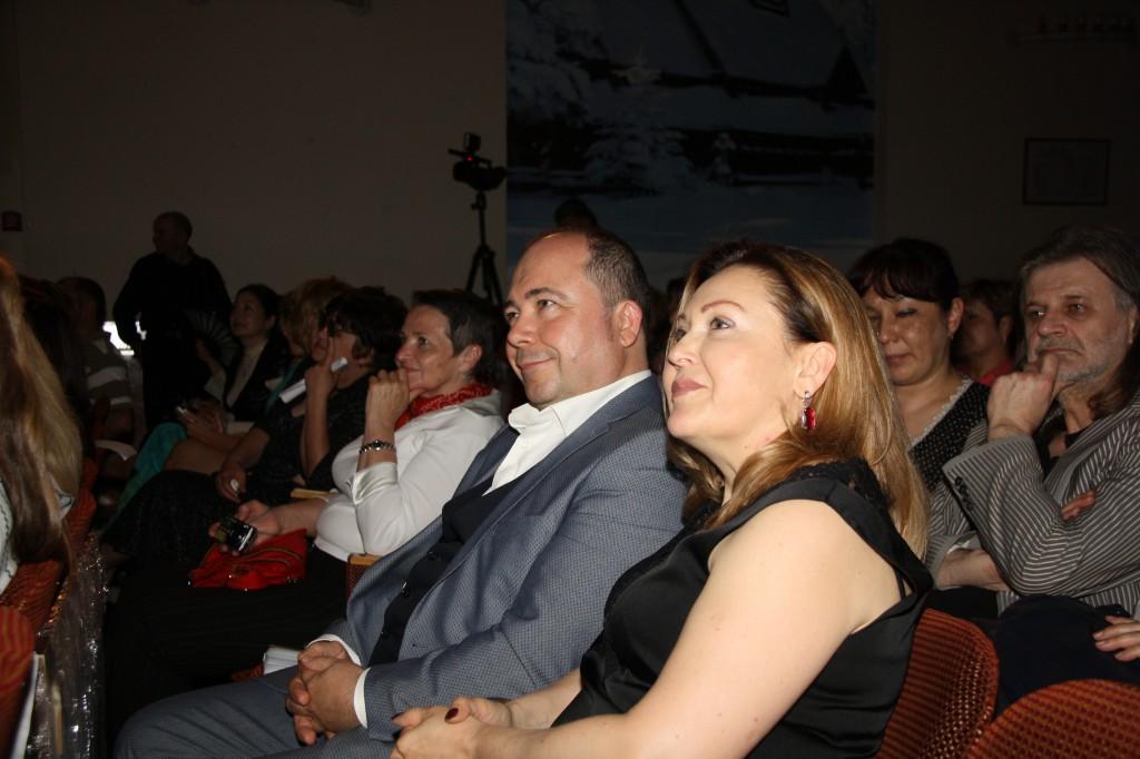Владимир Садовский и Марина Садовская в зрительном зале